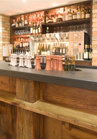 Architectural slate products - Bar with bottle chiller