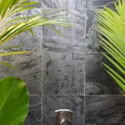 Honed Silver Shower
