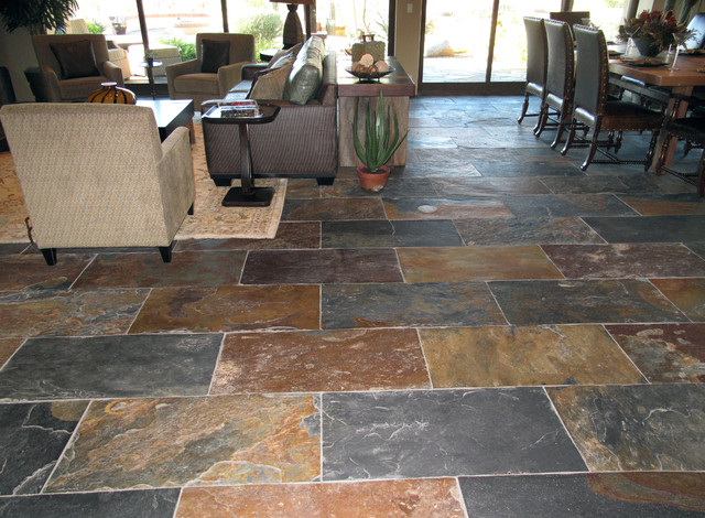 Slate Stone Tiles : Rustic multi slate the natural companythe
