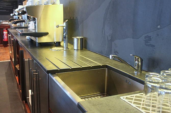 Architectural slate products - worktop and splashback