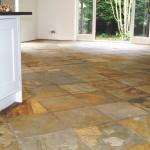 Bamboo slate floor