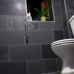 Honed Black Slate toilet