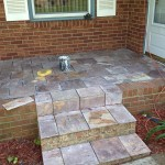 Lilac slate patio in progress