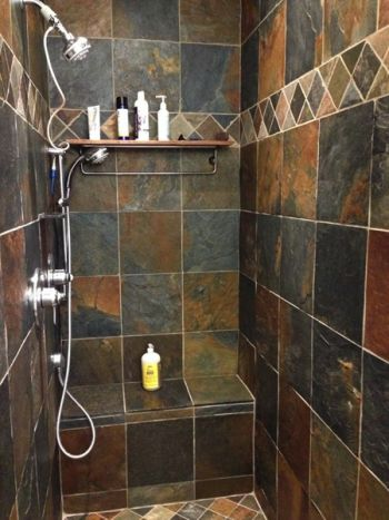 bathroom slate tile ideas rustic multi slate the slate companythe 16051