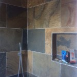 Sahara slate Shower room