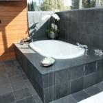 brazilian black slate bathroom
