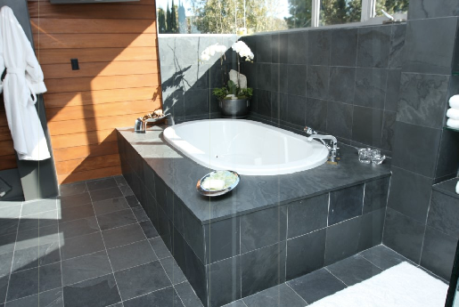 black slate bathroom floor black slate the slate companythe 17415