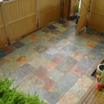 rustic brown patio